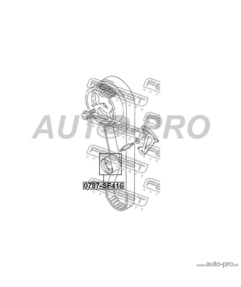 Napínacia kladka rozvodového remeňa 1281071C02, 0787-SF416 pre SUZUKI BALENO/ESTEEM SY413/SY415/SY416/SY418/SY419 SUZUKI CARRY/EVERY GA413 SUZUKI CULTUS SY415 SUZUKI GRAND VITARA/ESCUDO SUZUKI JIMNY SN413 SUZUKI SAMURAI SJ413 SUZUKI SIDEKICK SE416 SUZUKI SIDEKICK SPORT SUZUKI SWIFT SF310 SUZUKI SWIFT SF413/SF416 SUZUKI SWIFT SW413 SUZUKI VITARA SE413/SE416 SUZUKI X90 SZ416