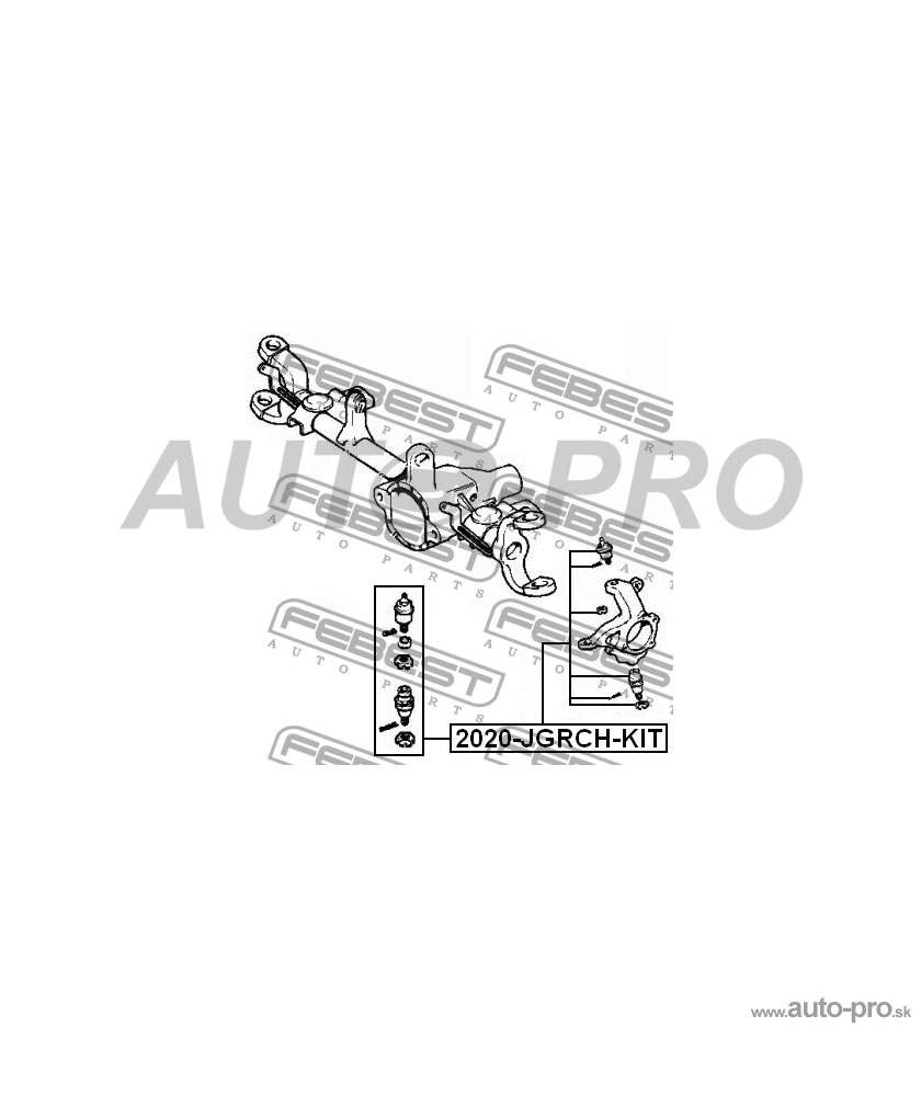 Guľový čap 5012432AA, 2020-JGRCH-KIT JEEP