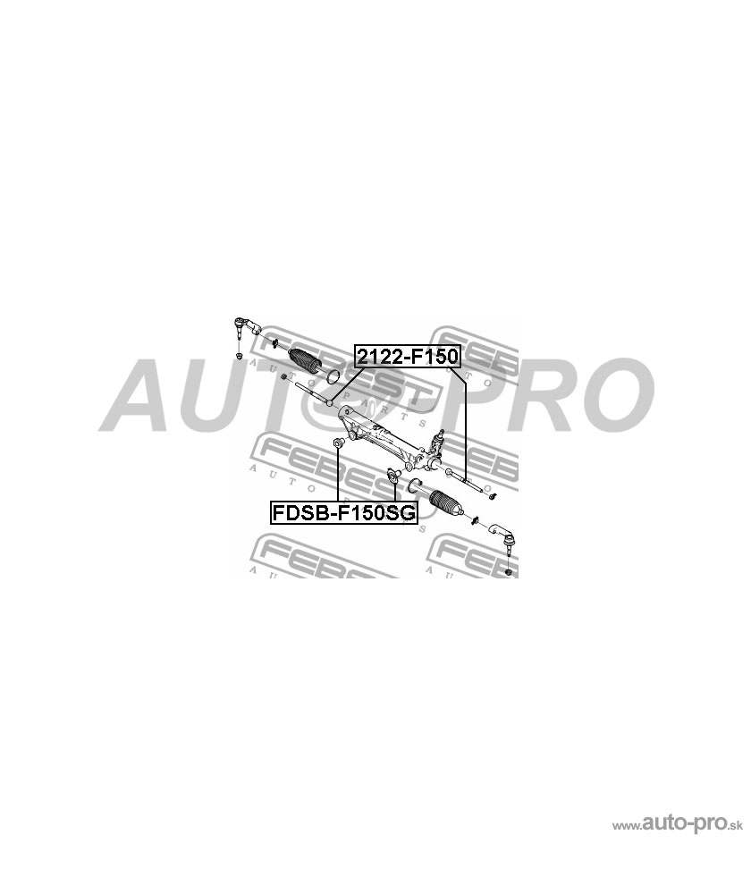Púzdro riadenia/skrine riadenia 7L1Z3C716D, FDSB-F150SG pre FORD EXPEDITION II FORD EXPEDITION III FORD F150/F250/F350 2004-2014 LINCOLN MARK LT LINCOLN NAVIGATOR II LINCOLN NAVIGATOR III