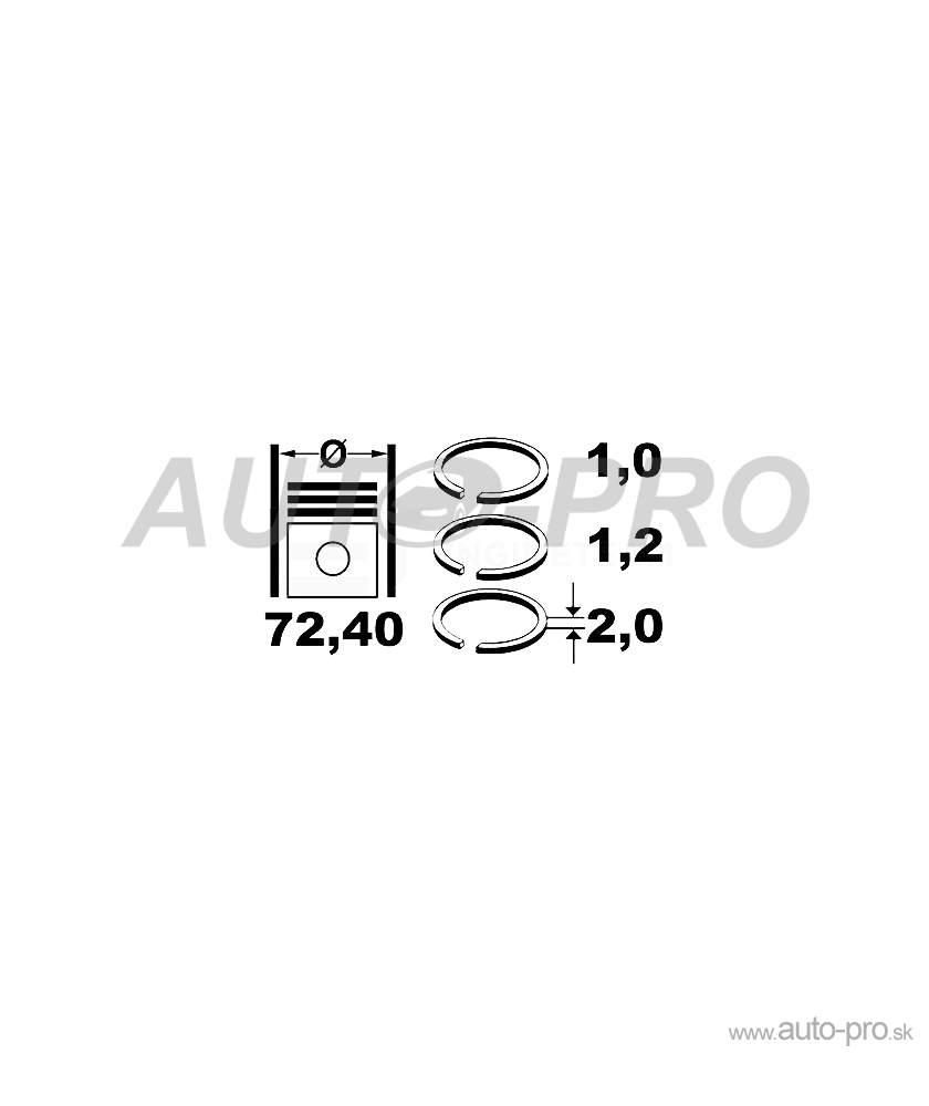 Sada piestnych krúžkov R1012050 pre FORD B-MAX (JK, FORD C-MAX II FORD ECOSPORT (09.2011 FORD FIESTA VI FORD FOCUS III FORD GRAND C-MAX FORD MONDEO V FORD TOURNEO CONNECT/GRAND FORD TOURNEO COURIER FORD TRANSIT CONNECT FORD TRANSIT COURIER
